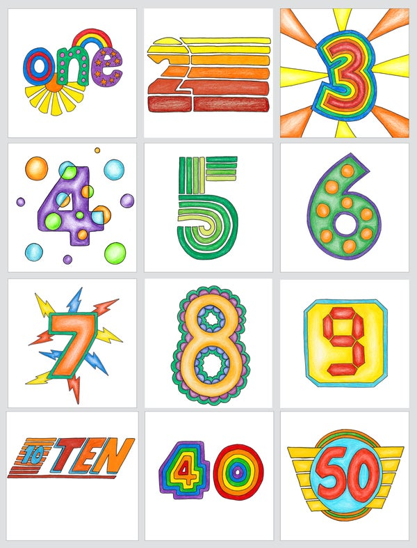 Image of Birthday Age Cards