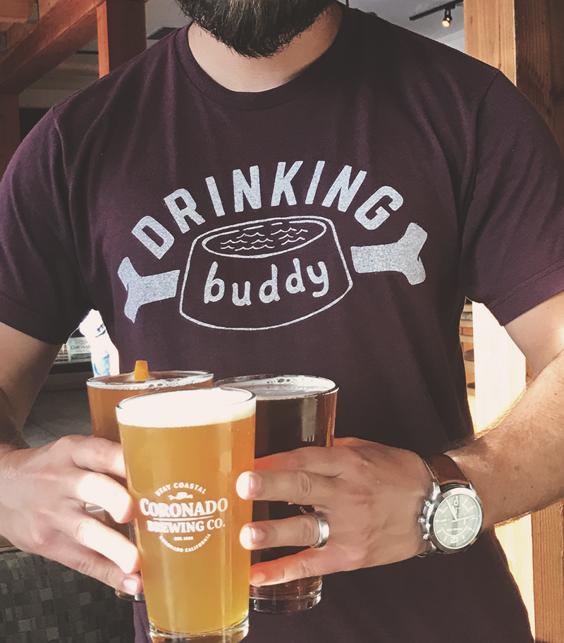 Image of Drinking Buddy Tee - Berry Triblend
