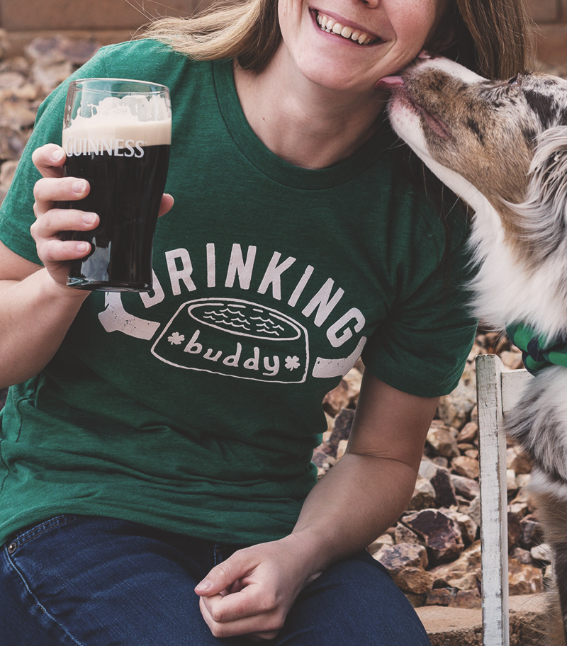 Image of Green Drinking Buddy Tee