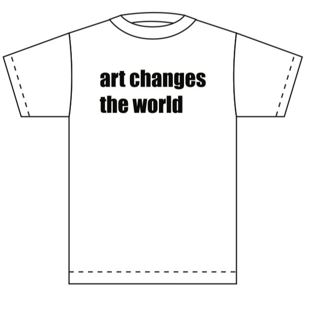 Image of Art Changes The World Tee