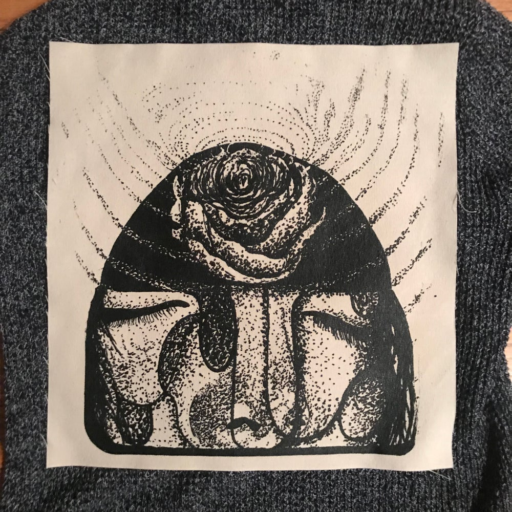 "Image of ""Ode To The Jewel"" Large Screen Printed Sew On Patch"