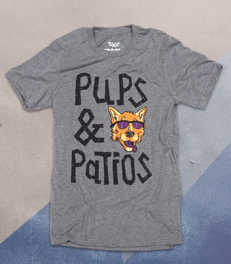 Image of Pups & Patios Tee