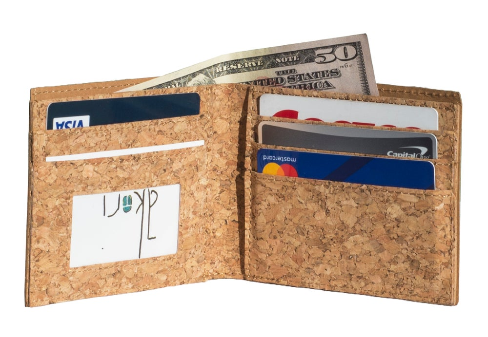 Image of Ultra Slim Unisex Cork Wallet