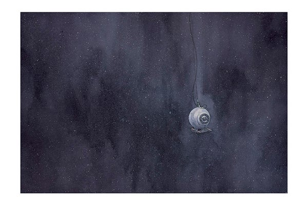 Image of Dark Ocean Giclée Print 16 x 24 from OTIS AND WILL DISCOVER THE DEEP