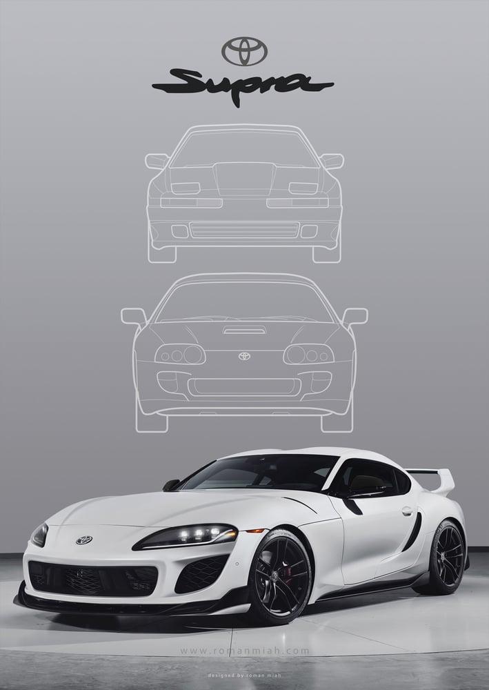 Image of Toyota Supra (Mk 5) Redesign Poster Print