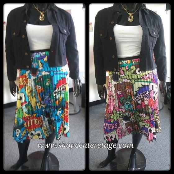 Image of Sesame street pleated skirt