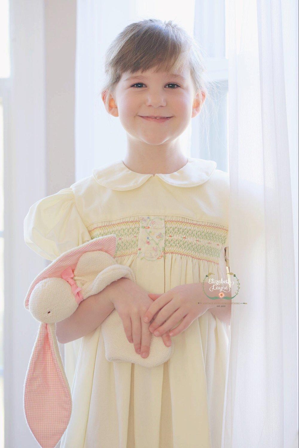 Image of Beatrix Bunny Box Pleat Dress