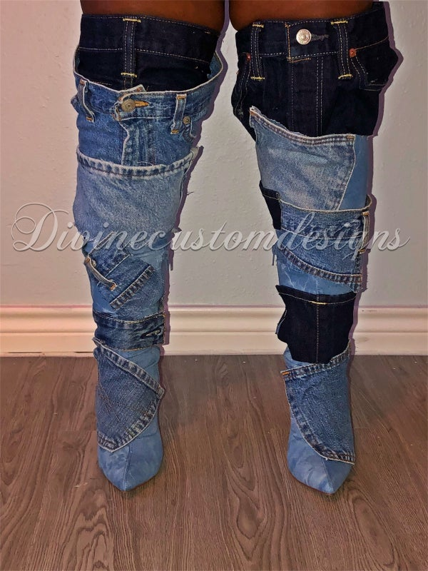 Image of Barricade Denim Boots