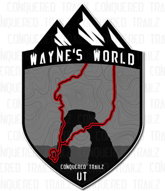 """Image of """"Wayne's World"""" Trail Badge"""