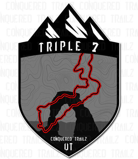"Image of ""Triple 7"" Trail Badge"