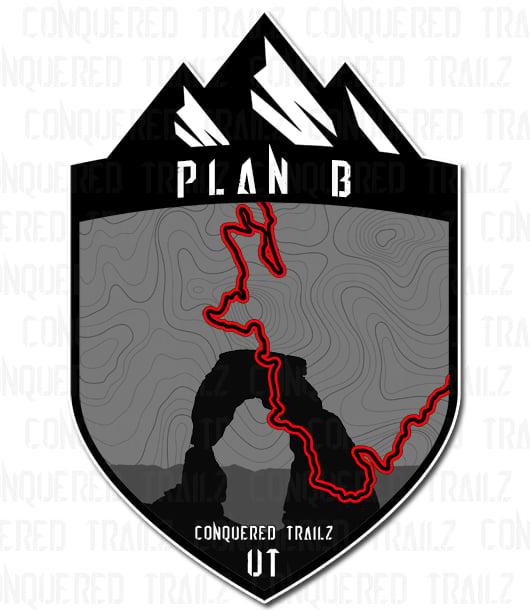 """Image of """"Plan B"""" Trail Badge"""