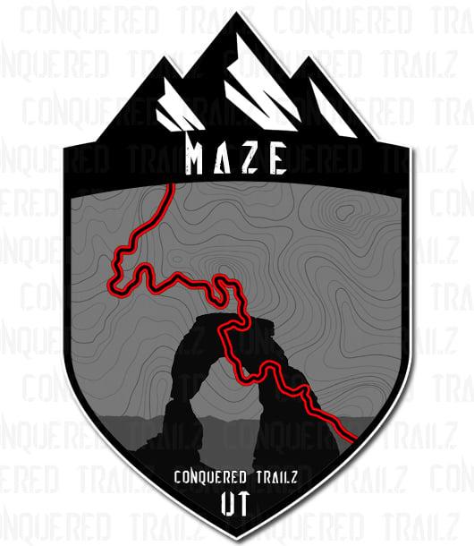 "Image of ""Maze"" Trail Badge"