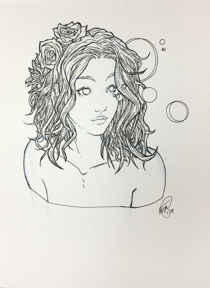 Image of kelly - original drawing 6x8