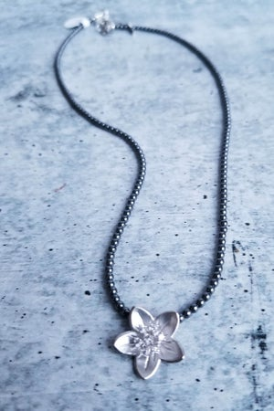 Image of Silver Lotus Flower Necklace
