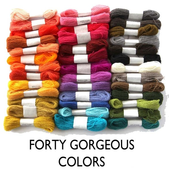 Image of Crewel Wool Embroidery Thread - 40 Colors