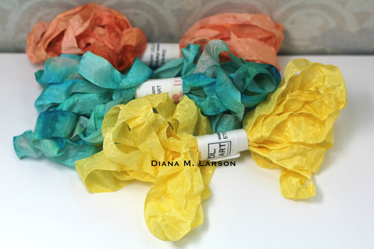 Image of Tropical Summer Crinkle ribbon