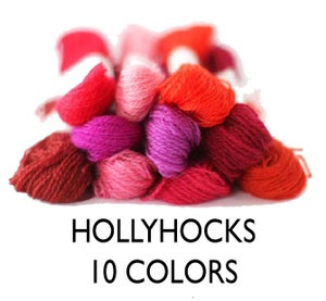 Image of Wool Thread for Crewel Embroidery - Hollyhock Collection