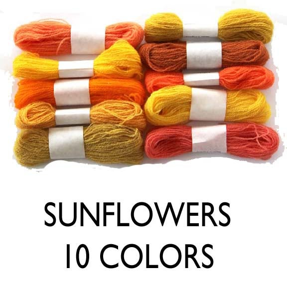 Image of Wool Thread for Crewel Embroidery - Sunflower Collection