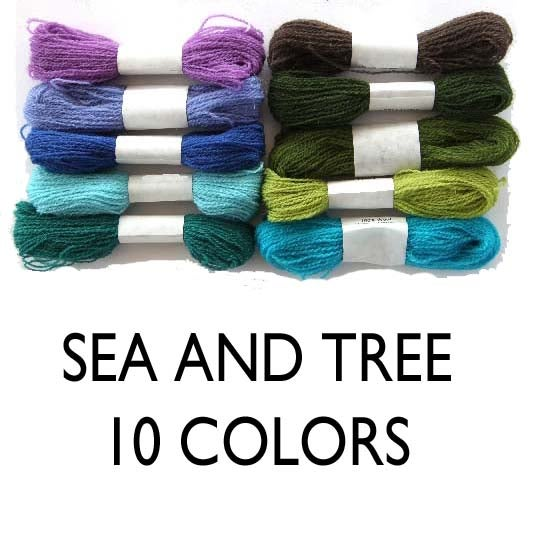 Image of Crewel Wool Embroidery Thread - Sea + Tree Collection