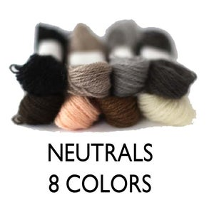 Image of Crewel Wool Embroidery Thread - Neutral Colors