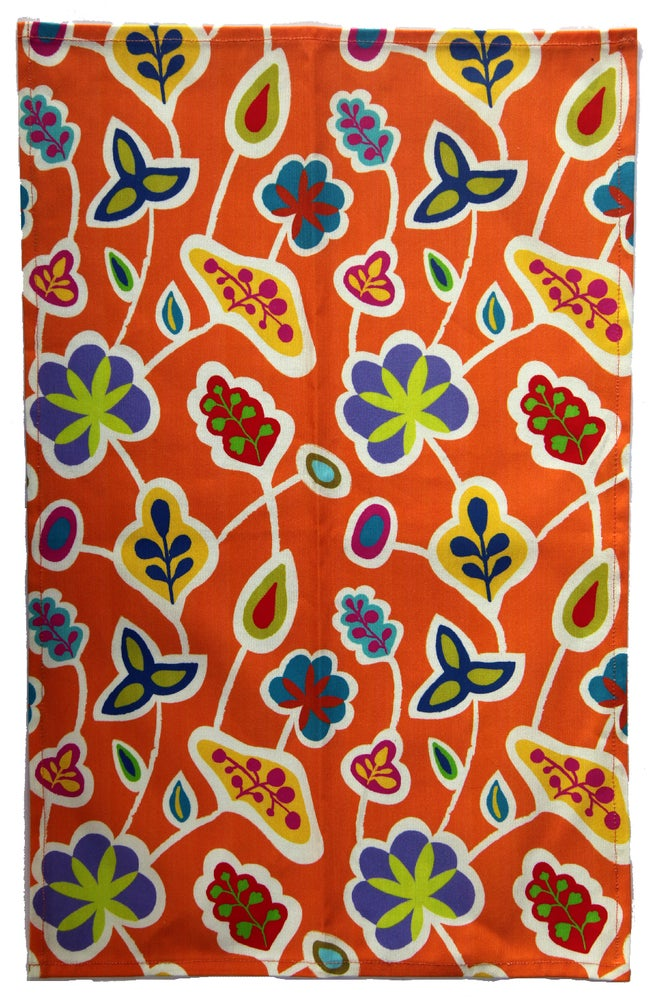 Image of Jaipur Orange Tea Towel - FREE SHIPPING