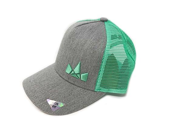 Image of Kids Fit Crown Logo Hat, Grey/Mint