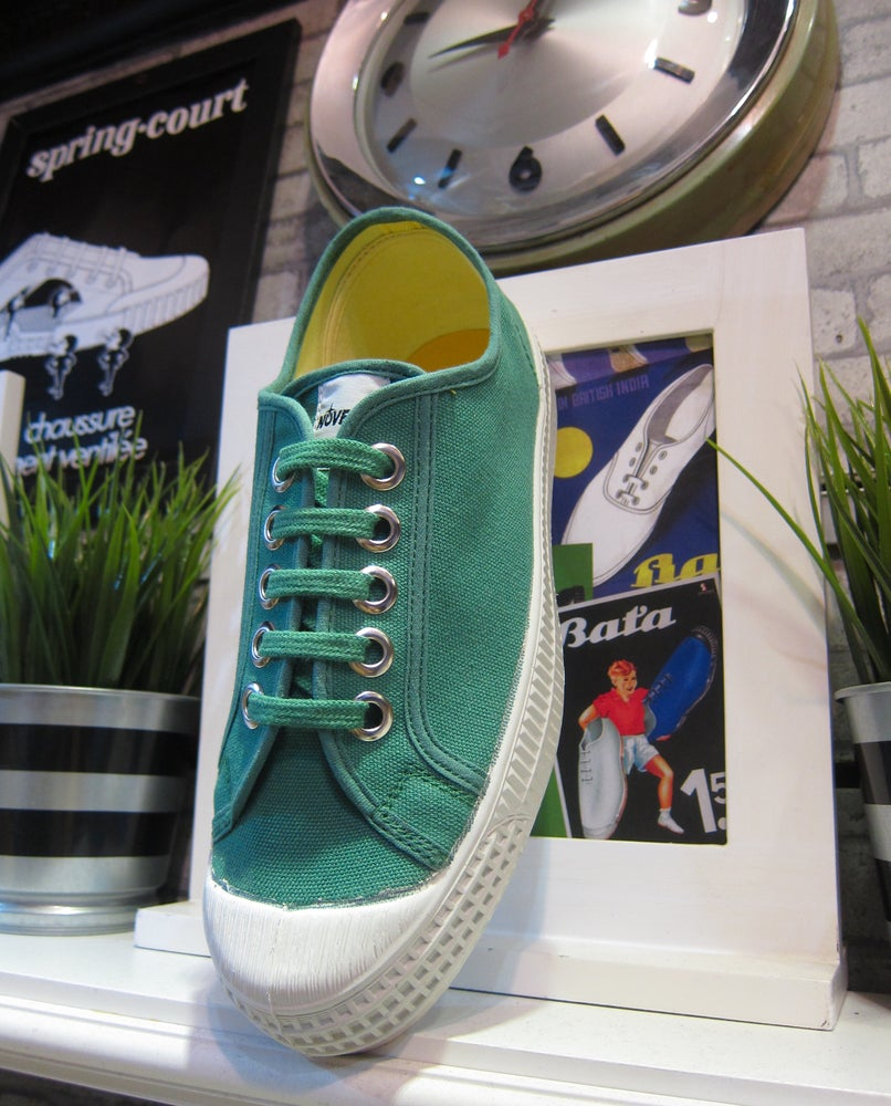 Image of Novesta master lo sneaker shoes emerald made in Slovakia