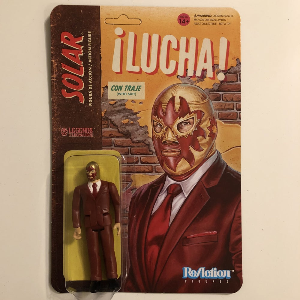 Image of GET IT NOW @ SUPER7.COM Solar (In Suit) Legends of Lucha Libre ReAction Figure from Super7