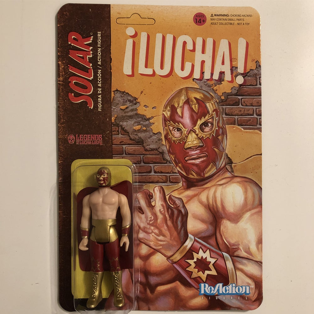 Image of GET IT NOW @ SUPER7.COM Solar Legnds of Lucha Libre ReAction Figure from Super7