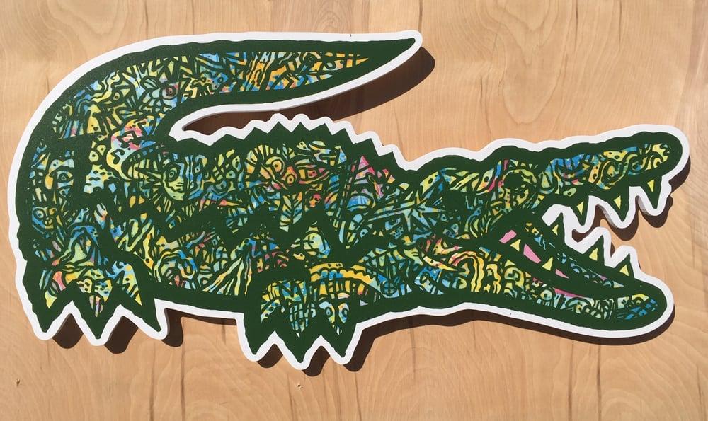 wybór premium na wyprzedaży wykwintny design Lacoste Landfill wall art ( okefenokee colors)