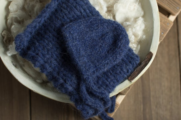 Image of Navy blue soft alpaca set