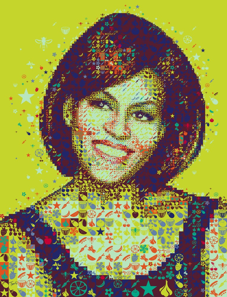 Image of A colorful Michelle Obama (Limited edition fine art prints)