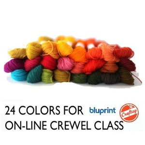 Image of Craftsy/Bluprint Crewel Embroidery Thread Pack - 24 colors