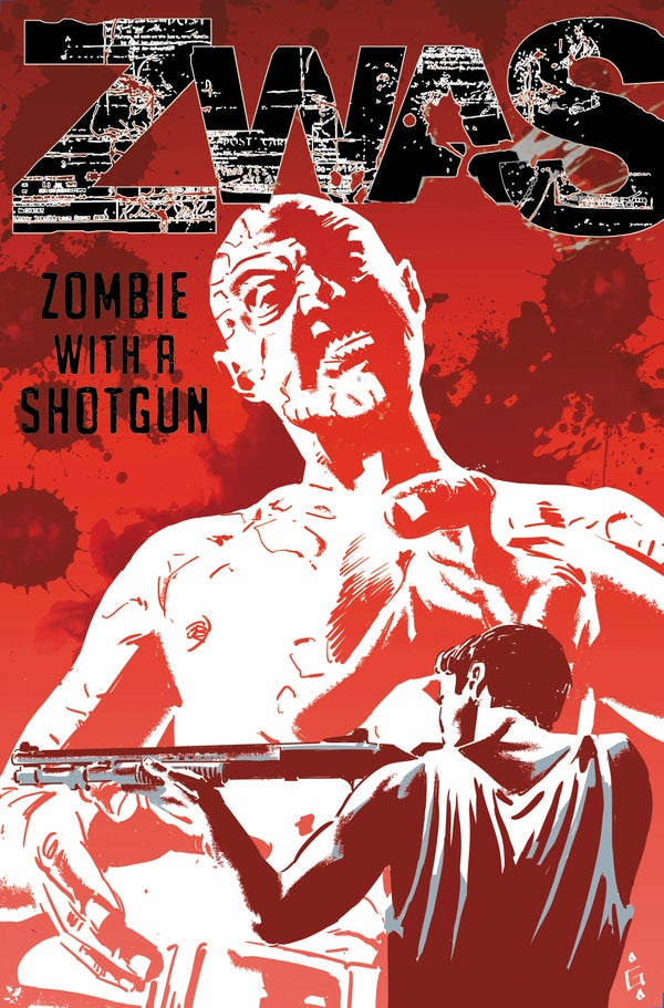 Image of Zombie with a Shotgun Combo Comic Cover ~ Signed and Printed on 17x22 Photo Paper
