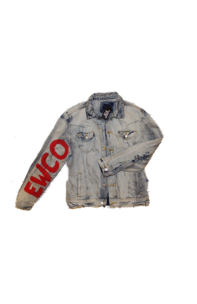 Image of DISTRESSED JEAN JACKET