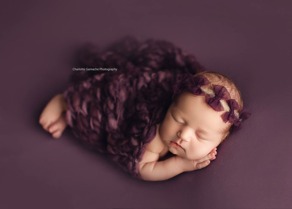 Image of Tulle bows headband (plum)
