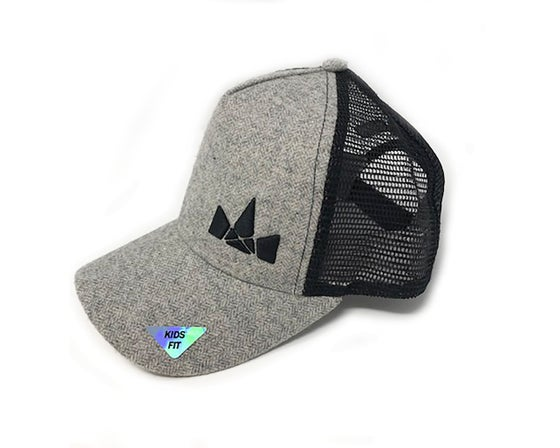 Image of Kids Fit Crown Logo Hat, Black/Grey
