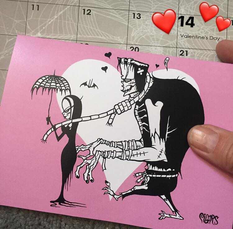 Image of TRUE LOVE - PINK VALENTINES DAY CARD