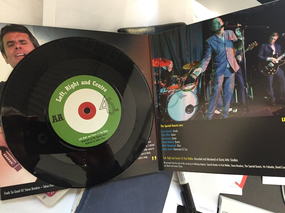 Image of Left, Right & Centre Charity AA side 7 inch single