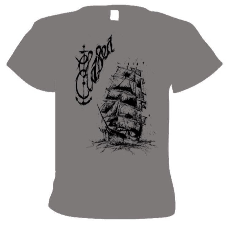 Image of Grey Elasea Anchor & Ship T-Shirt
