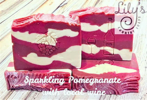 Image of Sparkling Pomegranate Goat Milk & Wine Soap