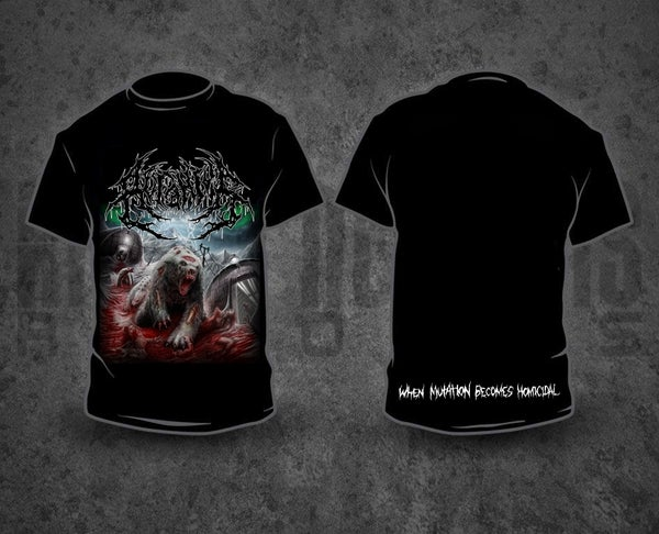 Image of ACRANIUS - When Mutation Becomes Homicidal T-Shirt (only SIZES S / M)