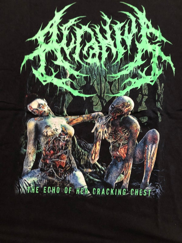 Image of ACRANIUS - Echoes Of Her Cracking Chest T-Shirt