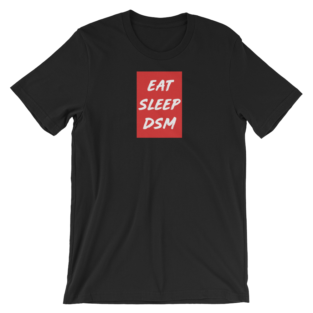 Image of EAT SLEEP DSM | RED/ BLACK (Vintage Style Print)