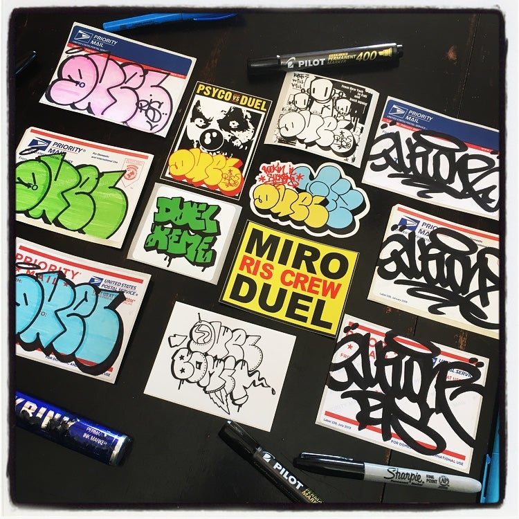 Image of DUEL RIS STICKER PACK
