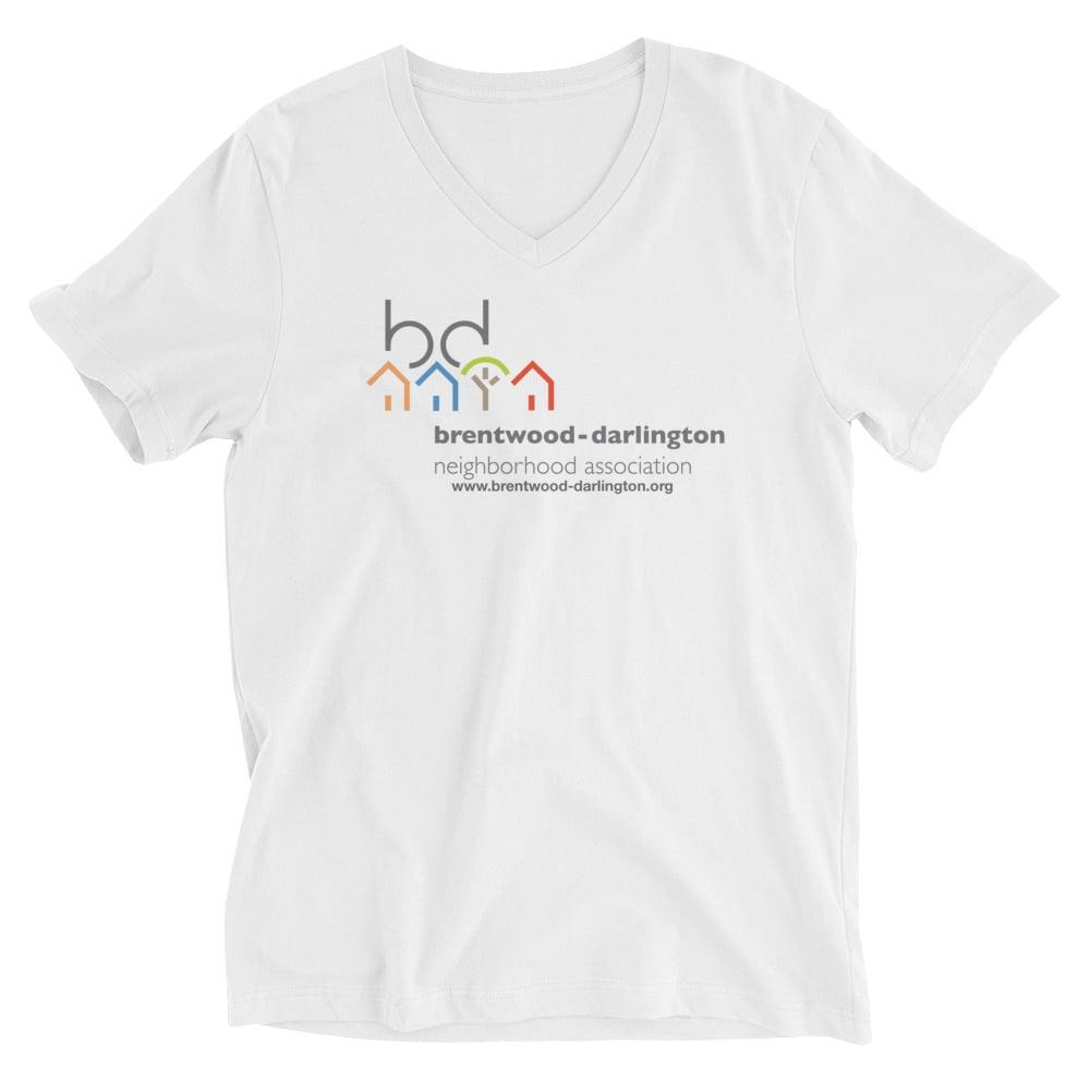 Image of Brentwood-Darlington Neighborhood Association Original Logo Unisex V-Neck T-Shirt