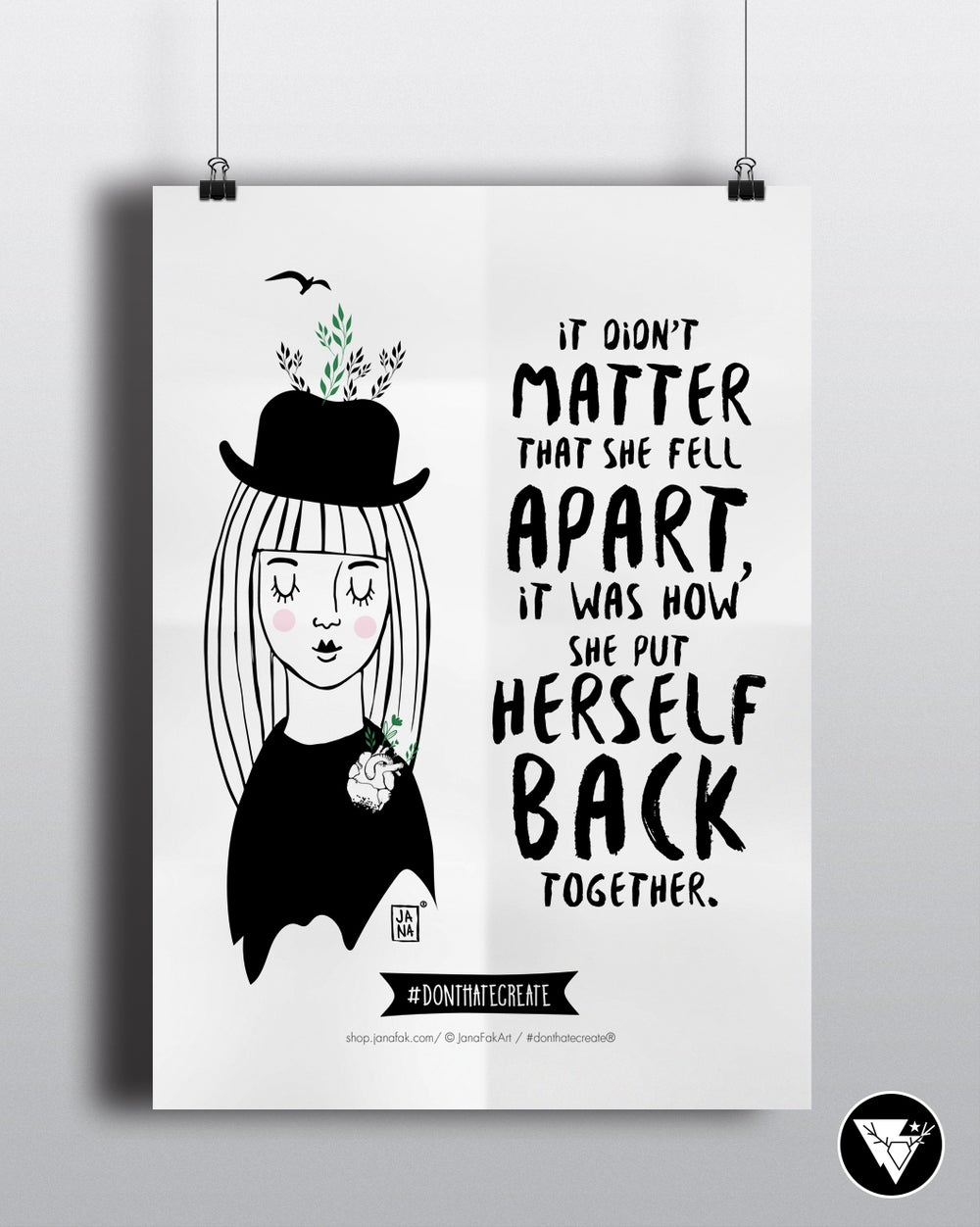 Image of Put herself back / art print