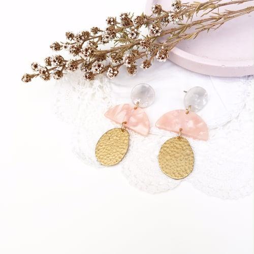 Image of 'Think Pink' Ballerina Dangles