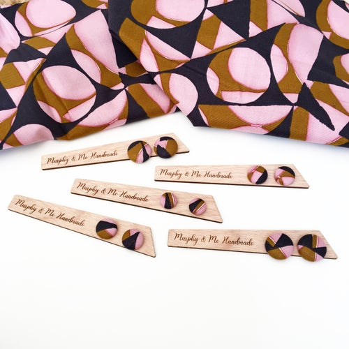 Image of 'Sunset' fabric Studs (12mm, 15mm & 19mm)