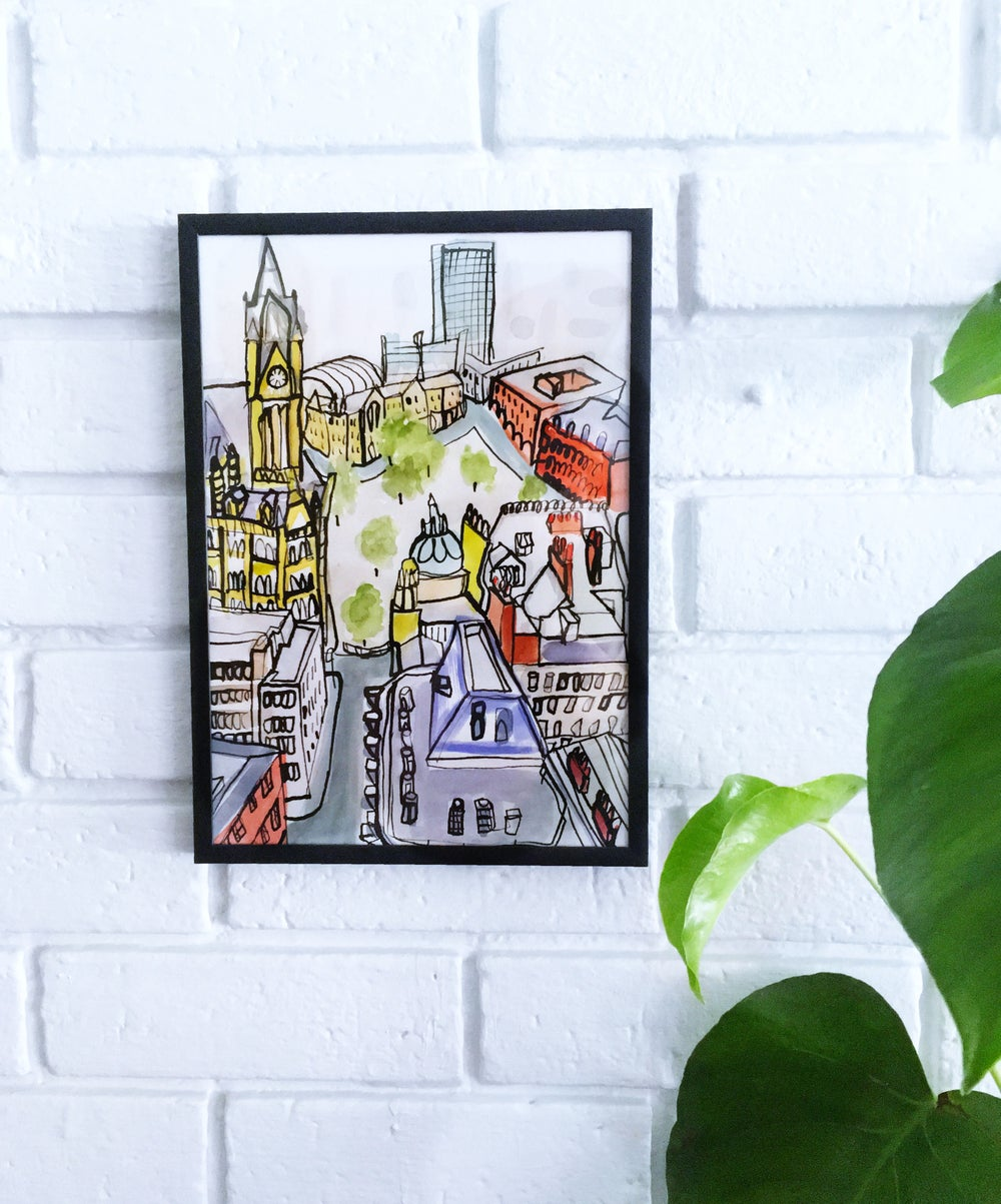Image of Limited edition, giclee print of Manchester cityscape.